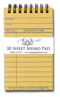 Yellow Memo Spiral Library Pad