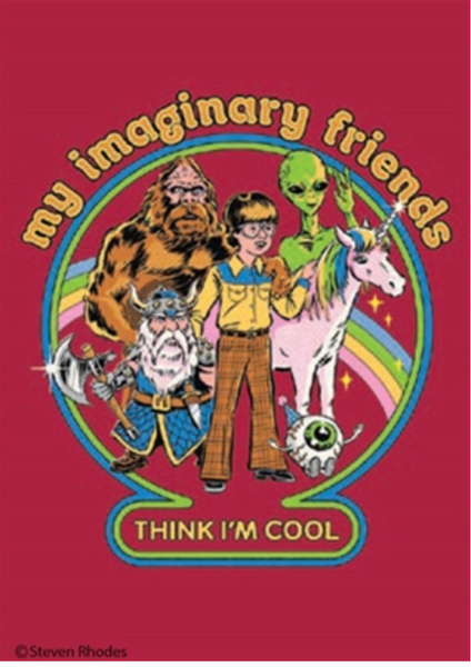 My Imaginary Friends Magnet
