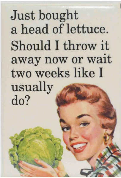 """Head of Lettuce"" Magnet"