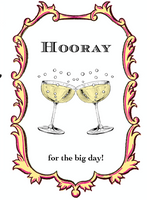 Hooray for the big day! - Wedding Card