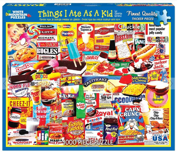 """Things I Ate As a Kid"" Jigsaw Puzzle (1000 piece)"