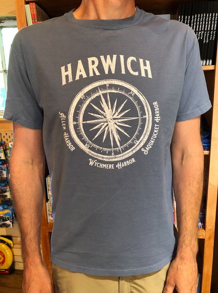 Harwich Harbors Compass Tee (blue)