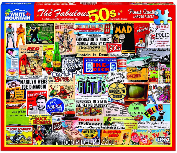 """The Fabulous 50s"" Jigsaw Puzzle (1000 piece)"