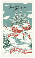 """Winter Wonderland"" Tea Towel"