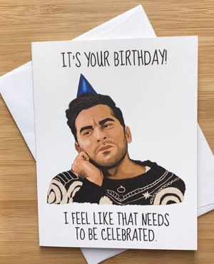 Schitt's Creek David Birthday Card