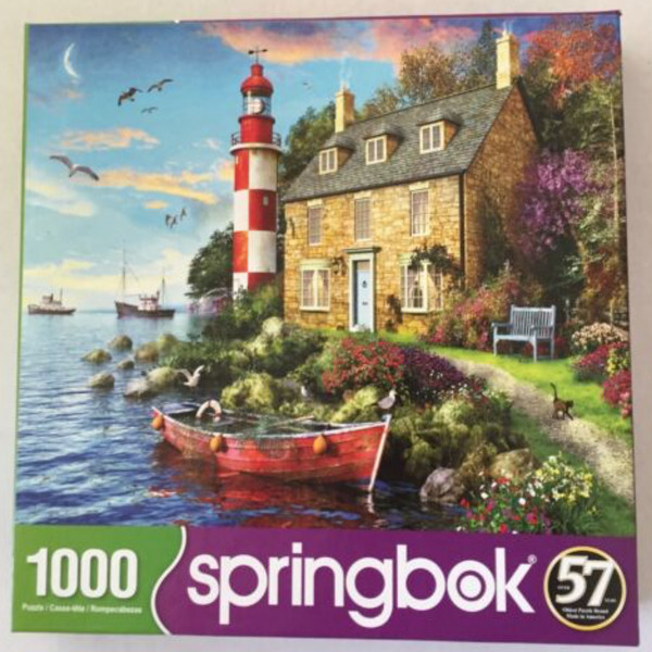 Cottage Lighthouse Jigsaw Puzzle (1000 piece)