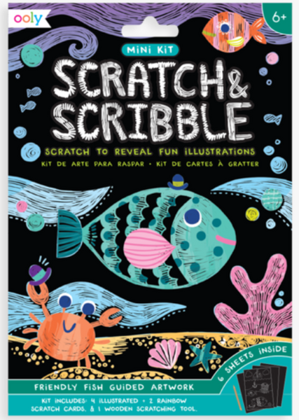 Friendly Fish Mini Scratch & Scribble Art Kit
