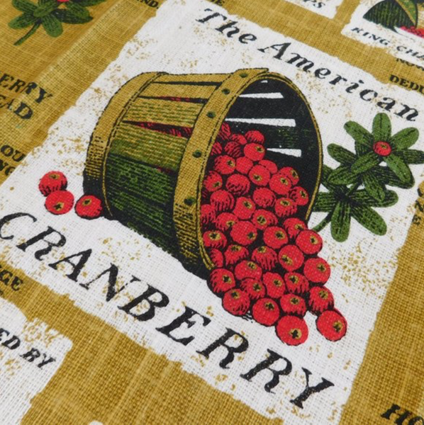 Cranberry Vintage Dishtowel