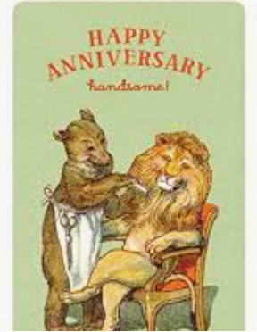 Handsome Lion - Anniversary Card