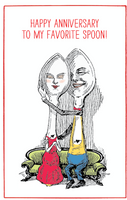 Fav Spoon Happy Anniversary Card