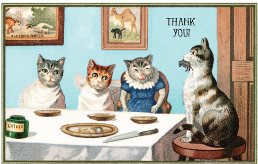 Cat Dinner Party - Thank You
