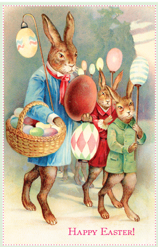 Lantern Parade - Easter Card