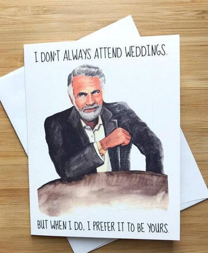 Most Interesting Man Wedding Card