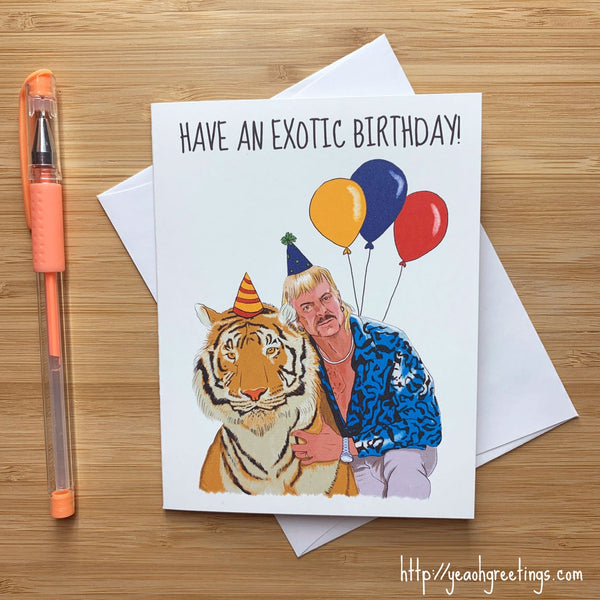 Joe Exotic Birthday Card