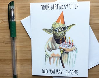 Yoda Birthday Card