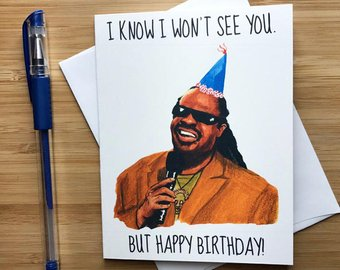 Stevie Wonder Birthday Card