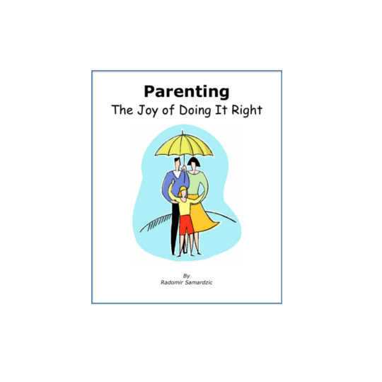 A picture of our book on parenting.  Based on RIE and Pikler teachings.