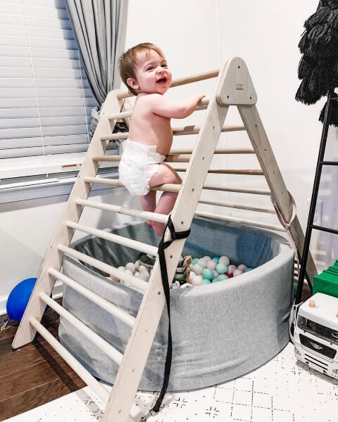 baby climbing extra large pikler triangle