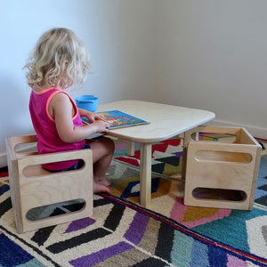 Montessori Cube Chair - RAD Children's Furniture - pikler triangle - montessori toddler furniture - climbing triangle - nursery room