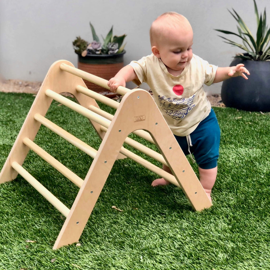 Pikler Triangle (Mini) - RAD Children's Furniture - pikler triangle - montessori toddler furniture - climbing triangle - nursery room