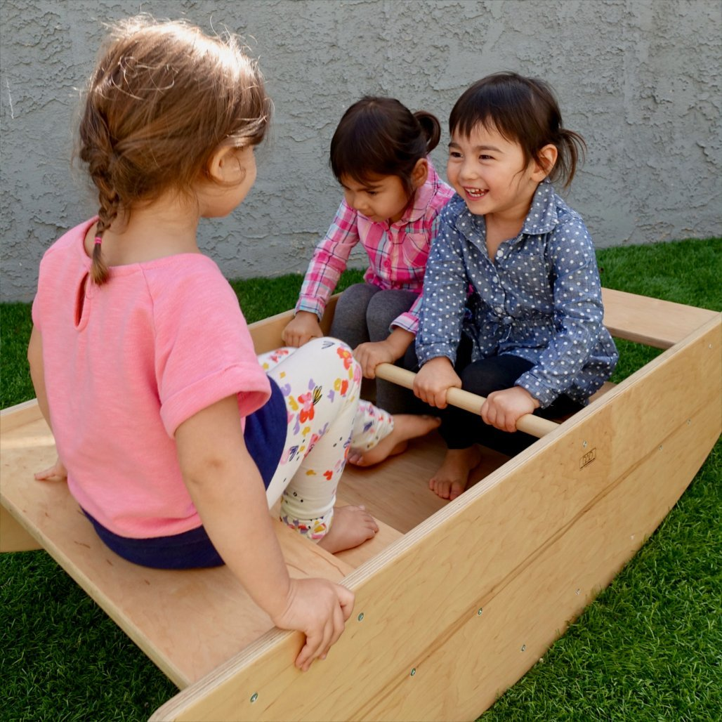 Steps / Rocking Boat - RAD Children's Furniture - pikler triangle - montessori toddler furniture - climbing triangle - nursery room
