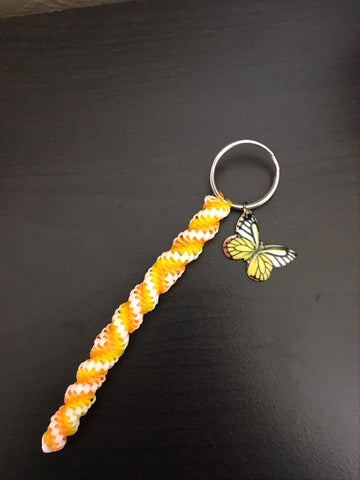 Orange-tip Butterfly Keychain
