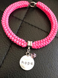 Hope ribbon bracelet