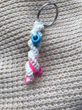 Mixi beaded twisty keychain