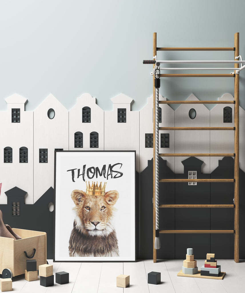 Personalised Lion King | 2 Colours Available - Jenna Davie Illustration