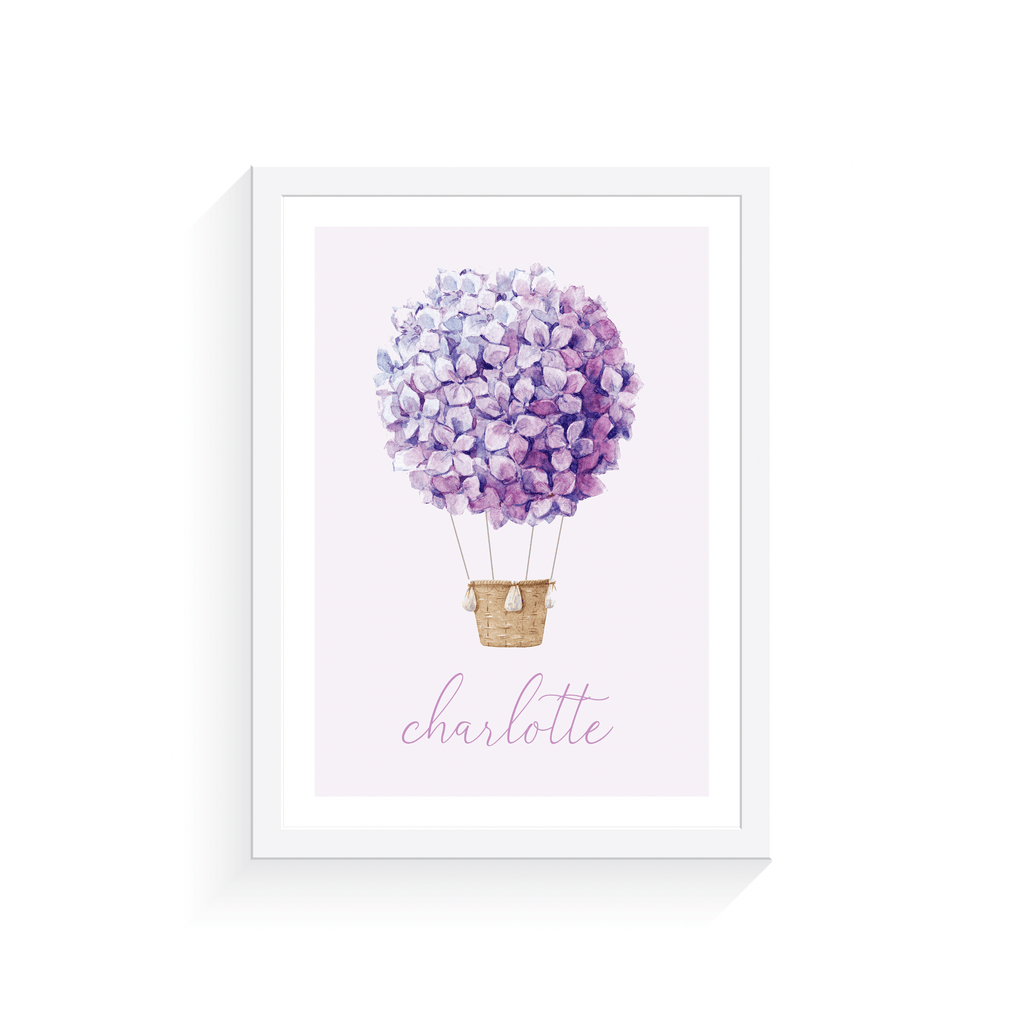 Personalised Hot Air Balloon - Jenna Davie Illustration