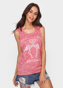 Majestically Awkward Flamingo Printed Tank