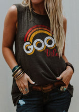 Load image into Gallery viewer, Good Vibes Rainbow O-Neck Tank