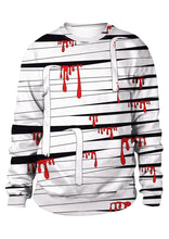 Load image into Gallery viewer, Halloween Unisex Blood Bandage O-Neck Sweatshirt