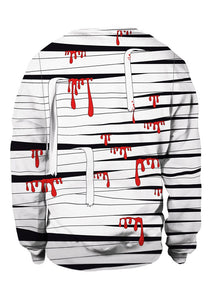 Halloween Unisex Blood Bandage O-Neck Sweatshirt