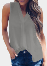 Load image into Gallery viewer, Solid V-Neck Casual Tank