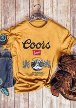 Load image into Gallery viewer, Coors Banquet Beer Vintage T-Shirt Tee - Yellow