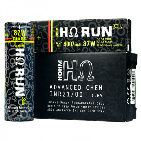 Hohm Run XL 21700 Battery By Hohm Tech (1 x Battery)
