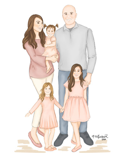 Family Custom Illustration