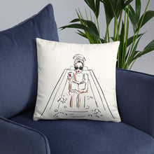 Load image into Gallery viewer, Bubble Bath Head Towel Fashion Illustration Series Pillow