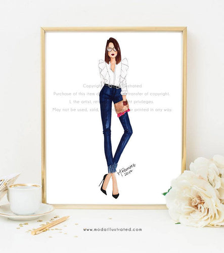 Denim All Day Art Print