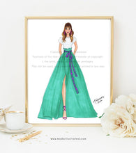 Load image into Gallery viewer, Glam Wall Art, Fashion Illustration, Fashion Illustration Print, Pink Art, Girly Art, Chic Home Decor, Fashionista, Fashion Art Print, Fab