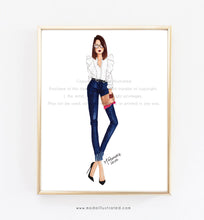 Load image into Gallery viewer, Personalized Fashion Illustration
