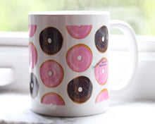 Load image into Gallery viewer, Doughnut drawing tea and coffee mug