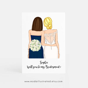 Bridal Party Proposal and Thank You Card Semi Customizable