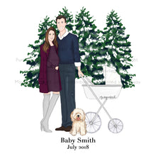 Load image into Gallery viewer, Baby Pregnancy Announcement Illustration