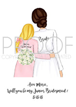 Load image into Gallery viewer, Junior Bridesmaid Card Customizable