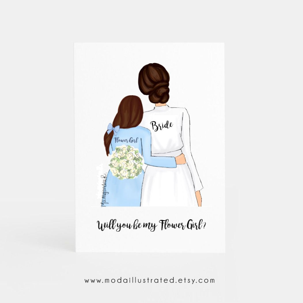 Junior Bridesmaid Card Customizable