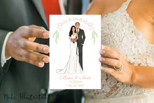 Load image into Gallery viewer, Wedding Couple Illustration