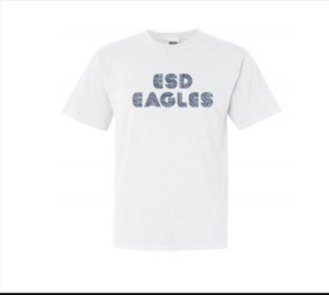 Summit White Tee with Retro ESD Eagles