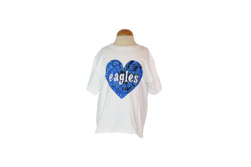 Comfort Wash Youth Blue Tie Dye Heart Tee